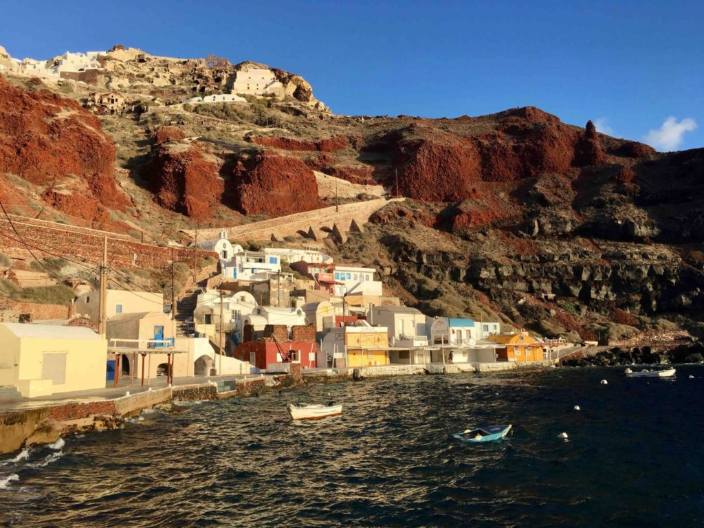 Ammoudi Bay is just a short walk down from Oia.