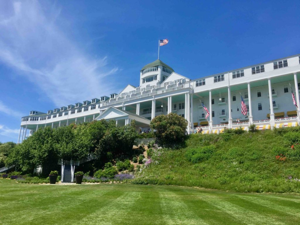 The Grand Hotel, boasting the longest porch in the world.