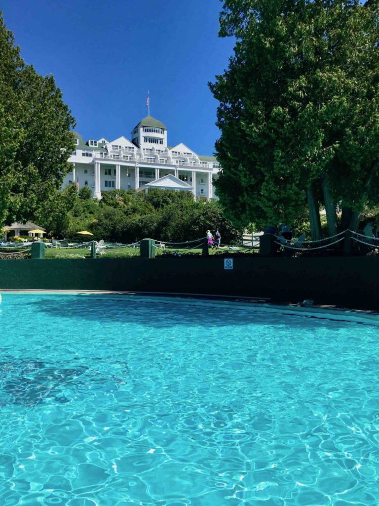 Esther Williams swimming pool at the Grand Hotel.