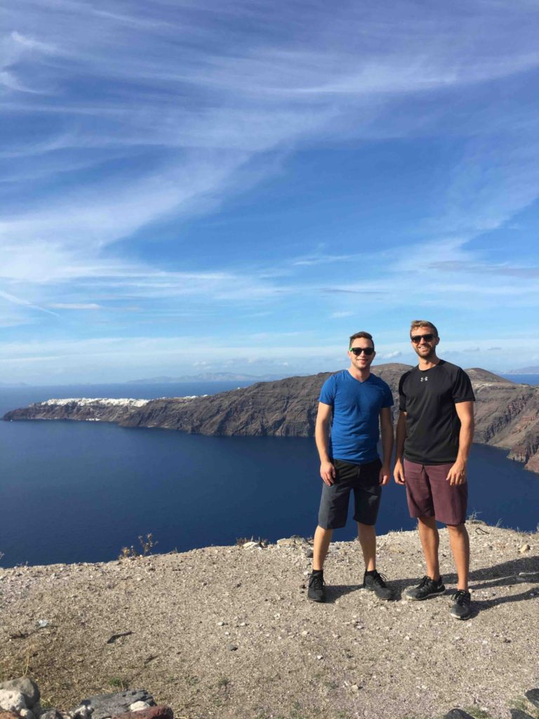 After Imerovigli the trail is treks along the caldera with spectacular views.