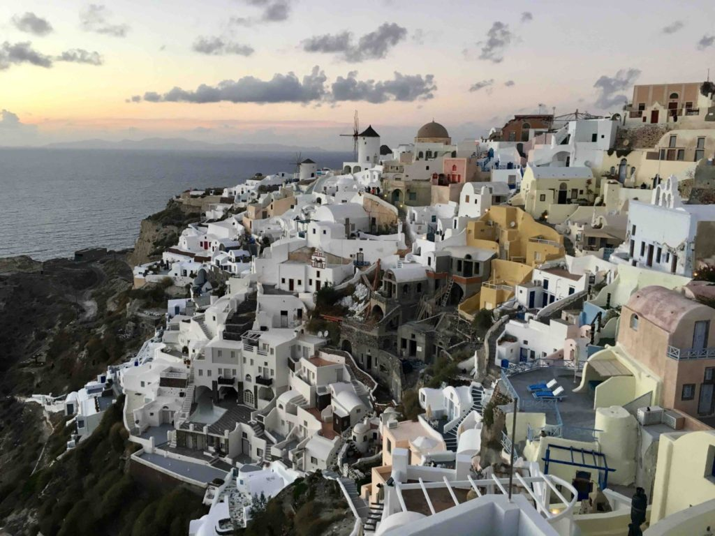 Oia just after sunset