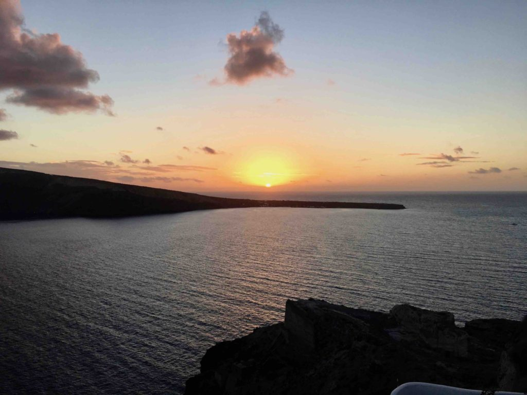 A Santorini sunset is the perfect reward for your efforts!