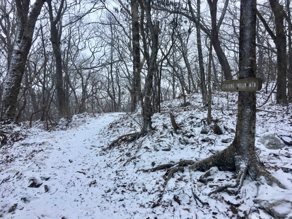 First snow on the trail