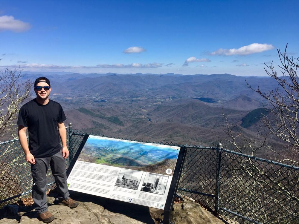 On top of Albert Mountain