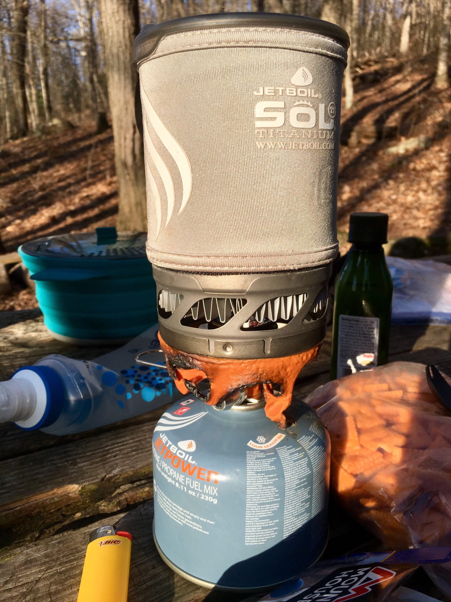 Our Jetboil after the accident.
