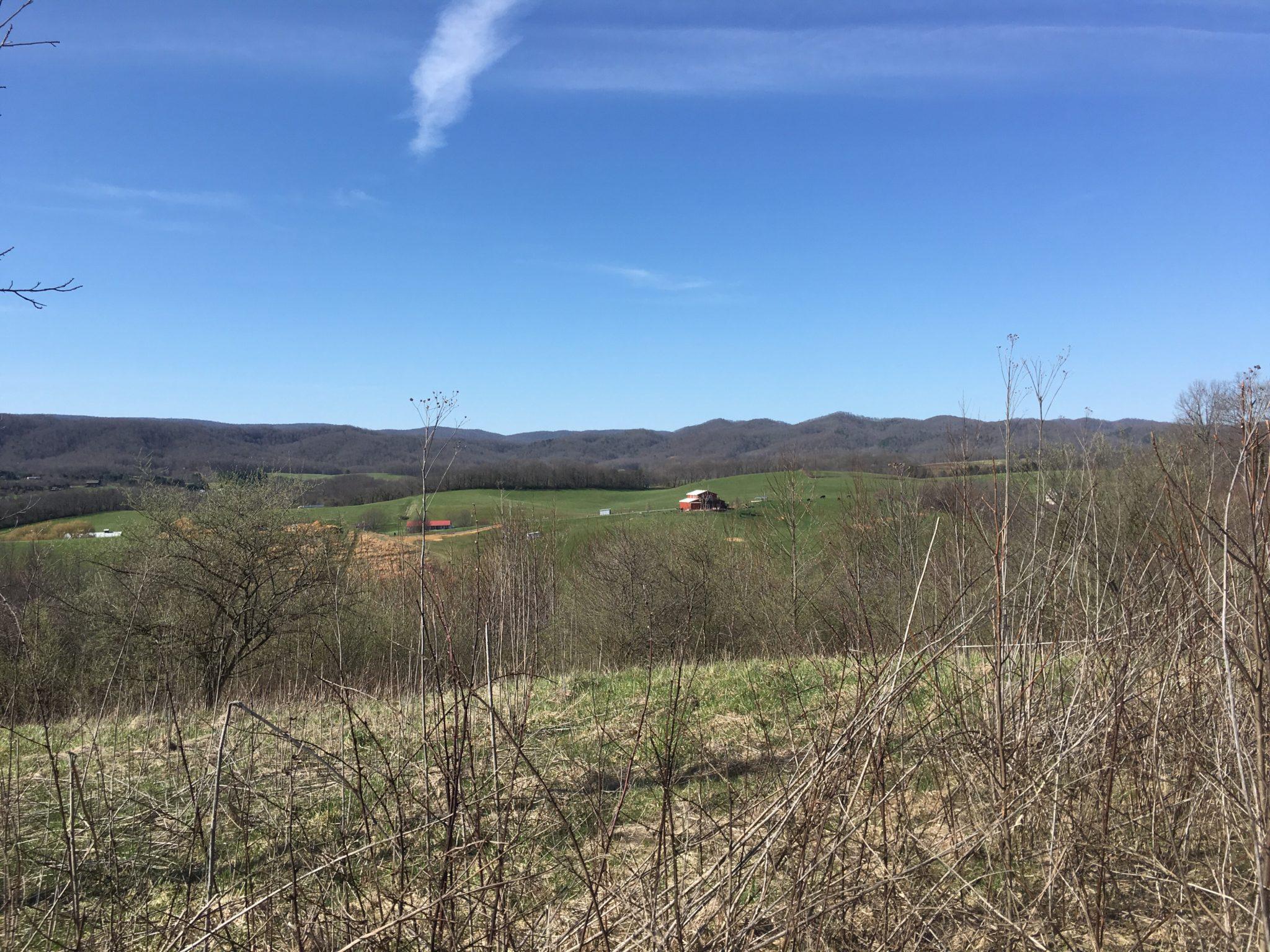 Blue skies over Virginia
