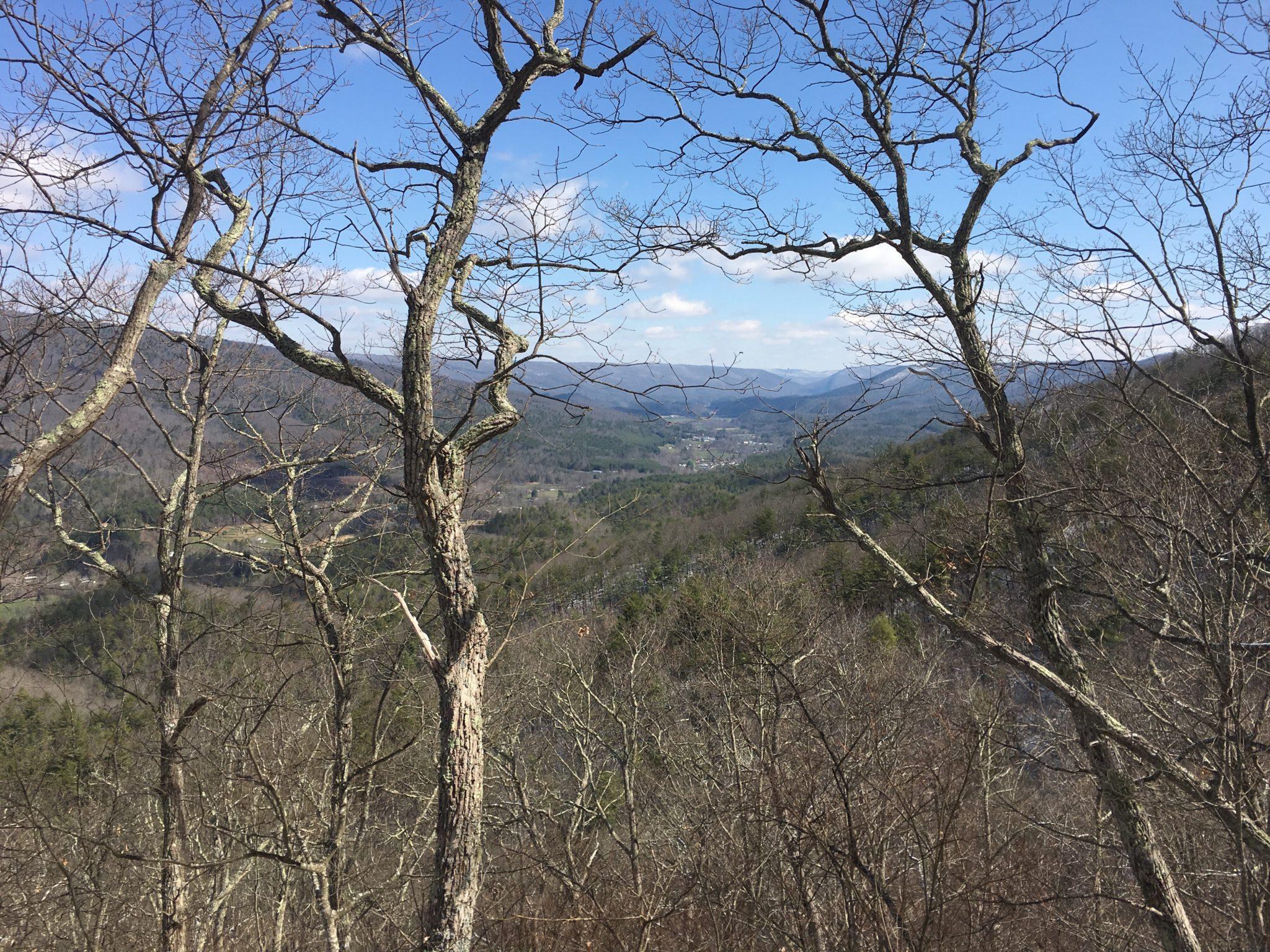Beautiful views from atop the ridge