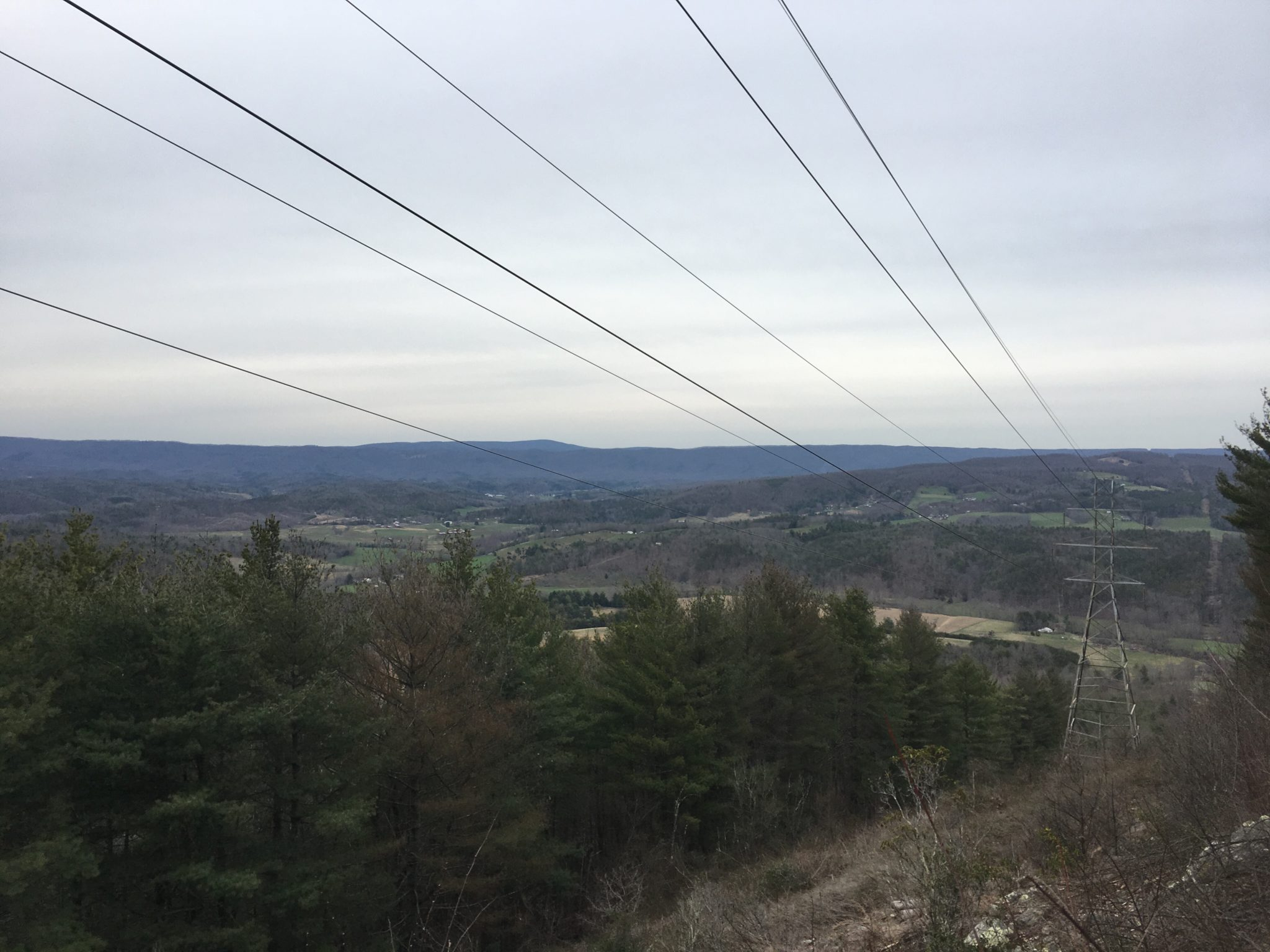 Sometimes the open areas clear-cut for the powerlines are the only places to get a good view