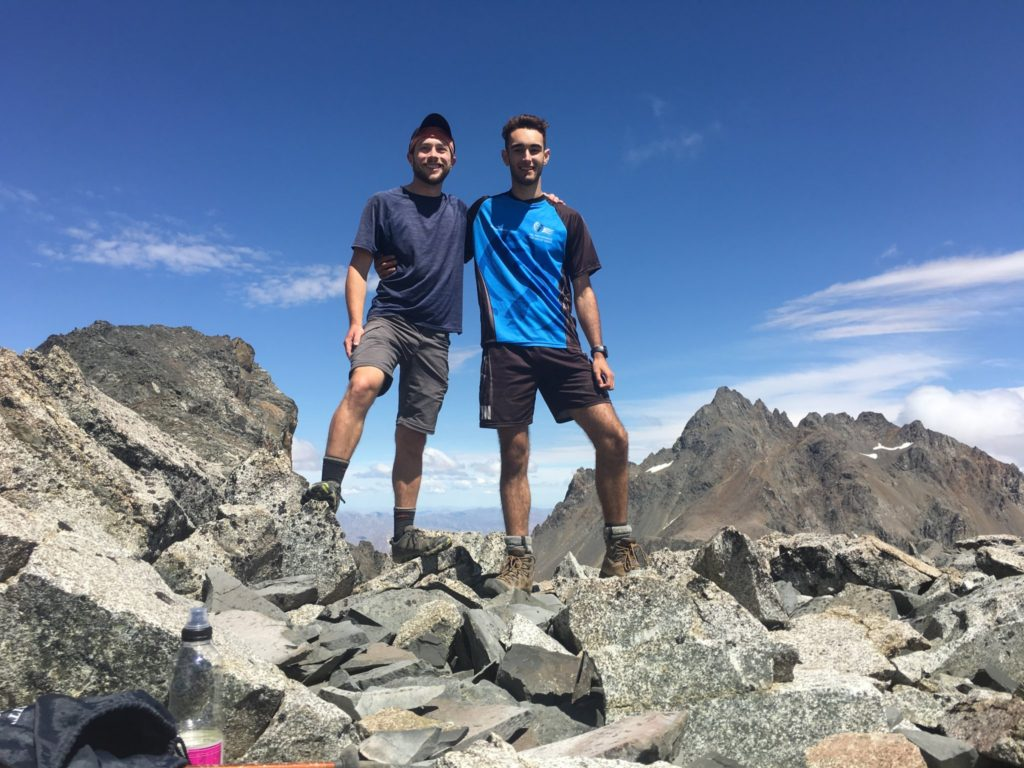 The intrepid hikers