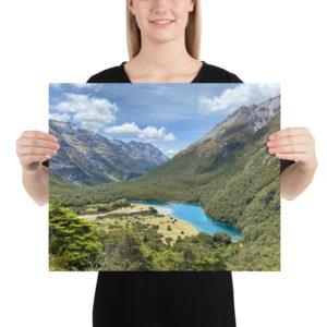 Blue Lake, Te Araroa Print
