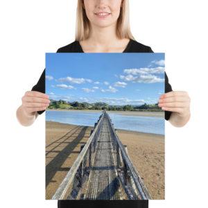 Whananaki Footbridge, Te Araroa Print