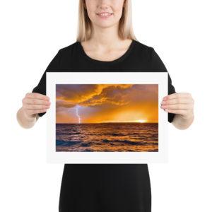 Sunset Storm Print